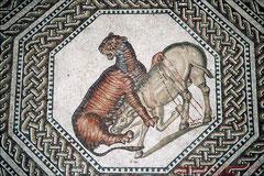 Villa Nennig, Römisches Mosaik (Ausschnitt)