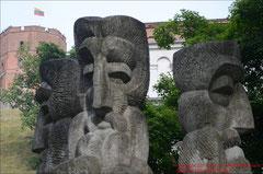 Vilnius, Altlit. Götter vor Gediminas-Turm