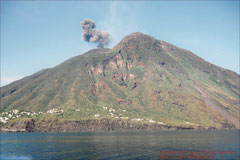 Eruption des Stromboli