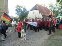 Männerchor beim  Kuldiga-Umzug 2013