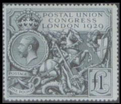 Great Britain: 1929 P.U.C. £1 value, mint.