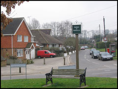 The Village Sign and Green. Fawkham.