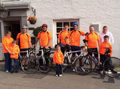 MMD cycling team with the Merrick family