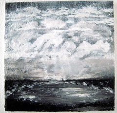 Nordsee s/w, 50 x 50 cm