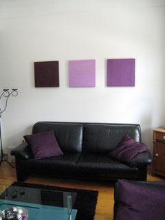 Trilogie Mauwe, 3x 50 x 50 cm