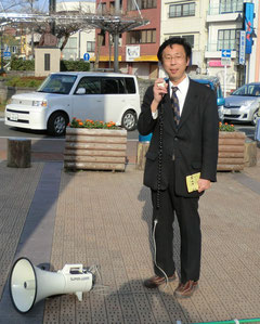 週2回藤枝駅で朝宣伝してます