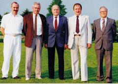 SR Ausschuss 1990: Von links: Herbert Dettling, Siegmar Straub, Walter Fetzer, Jakob Ulm, Georg Thomma