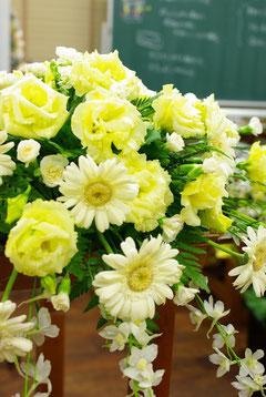 結婚披露宴の高砂席の装飾花 レッスンNo.29
