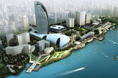 上海市街地の再開発計画国際コンペ案。惜しくも当選なりませんでした。