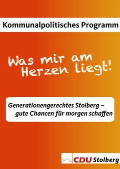 Das Kommunalpolitische Programm, das in Zusammenarbeit mit den Stolberger Bürgern erarbeitet worden ist, wurde an diesem Abend einstimmig verabschiedet!