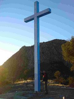 Imagen de la Cruz Gloriosa en la cima del cerro
