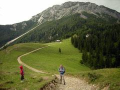 Blick vom Fadensattel zum Schneeberg