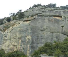 klettern, Südfrankreich, Buoux, Sektor, Autoroute, Viol de Corbeau, 7b+