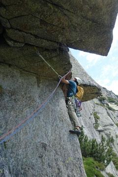 Teufelstalwand, Tüfelstalwand, Teufelswand, Tüfelswand, klettern,Andermatt, Wilde 13, Wilde dreizehn, 8. Seillänge