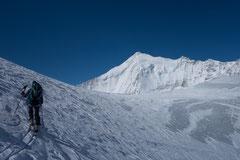doldenhorn, Skitour, Skihochtour, Kandersteg, Tagestour, Abfahrt Couloir