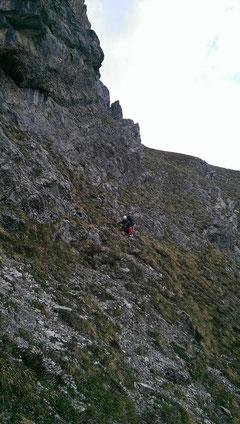 Zustieg, Abstieg Rote Fluh, A la rechèrche de Peter Pan