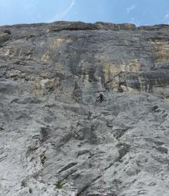 Rätikon, Mehrseillängen, Schwarzer Diamant, Klettern, Schweiz, Ostschweiz, 8. Seillänge