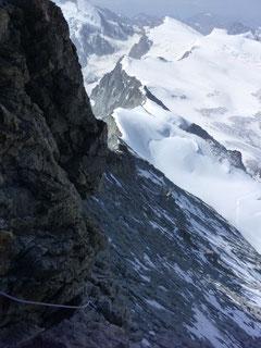 Abstieg, Dent Blanche, Wallis