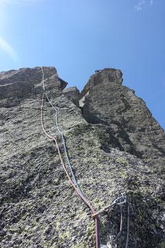 Climbing,  Klettern, Chamonix, Envers des Aiguilles, Bienvenue au Georges V