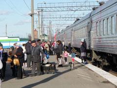 Transsibérien en gare - Moscou Pékin - voyage transsibérien