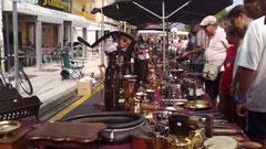 Feria de antigüedades en Tossa de Mar