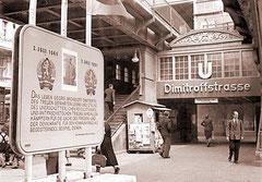 Der heutige U-Bhf. Eberswalder Str. im Jahr 1952,  Quelle: Bundesarchiv, Bild 183-11182-0003 / Junge, Peter Heinz / CC-BY-SA