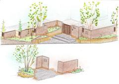 玄関アプローチ計画図