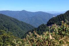 頂上からの絶景。ここから下り。