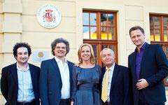 v.l.n.r.: Sergey Trembitskiy, Johannes Beck, Ursula Friedsam, Dr. Eberhard Straub, Dirk Kohl