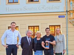 V.l.n.r.: Dirk Kohl, Karlthedor Huttner, Ute Uhlemann, Ingo Steuer, Ursula Friedsam