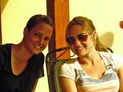 Sabrina Seiwert und Elisa Kayser im Tandem beim Warndt Team Masters des TC Ludweiler erfolgreich.