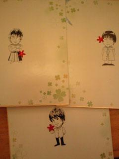 イラストが得意ということで書いてもらった4年生の絵。うまいですね。