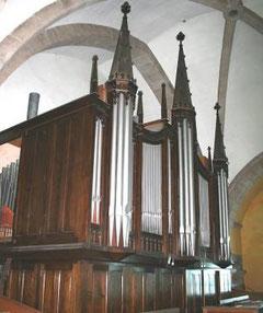 L'orgue du Likès tel qu'il se présentait avant son démontage en 2007