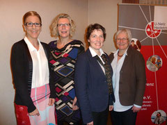 Neuer Vorstand beim U-Netz: Bild: Antje Diller-Wolff, Renate Wrasse, Natascha Fabian, Anette Günther