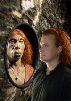 Wissenschaftler vermuten, dass der modern Mensch nicht nur Neandertaler- und Denisova-Gene in sich trägt, sondern auch noch Reste der Sprache seiner nächsten Verwandten bewahrt hat.  MPI für evolutionäre Anthropologie