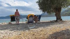 Stellplatz bei Korfos