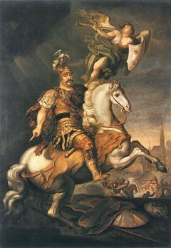 Jan III Sobieski in der Schlacht am Wien