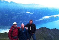 Ausflug mit dem Vater und Bruder auf's Brienzer Rothorn