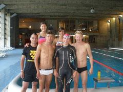 Schwimmtraining mit der coolen Trainingsgruppe in Davos