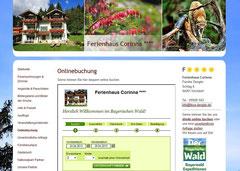 screenshot integrierte Onlinebuchung