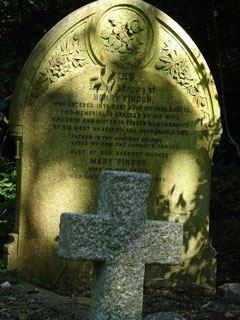 Grabstein und Kreuz