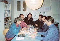 Baugemeinschaft im Gespräch    (Foto: Preuß-Bayer)