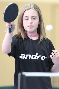 Marie Hering zeigte eine starke Leistung und gewann zwei ihrer drei Einzel.