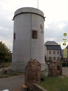 """Die """"Weiße Rübe"""" - das Wahrzeichen der Burg."""