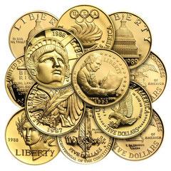 US-Gold-Gedenkmünzen