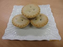 飾り気のない素朴な mincemeat pie