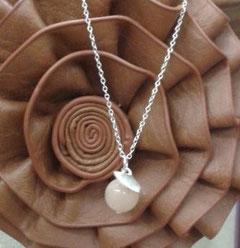 Silberkette mit Rosenquarz