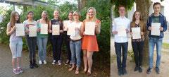 Schülerinnen und Schüler präsentieren ihre Zertifikate