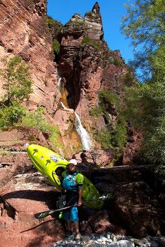 `Cascade de la Clue d`Amen´ in der Gorge de Daluis des Var