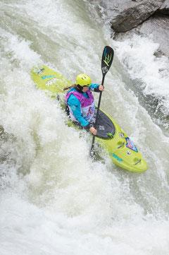 Anne Huebner im ersten Frauen Team beim Peak 2 Creek Staffelrennen im Ötztal, Fotot: Ulrich Grill